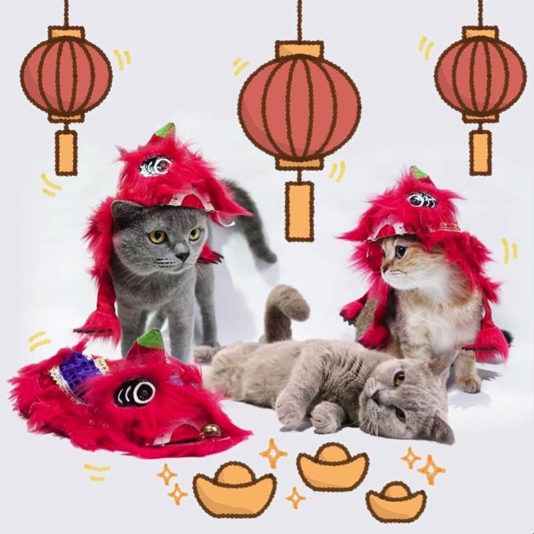 Cia, Muffin, dan Koca latihan barongsai untuk menyambut Tahun Baru Cina